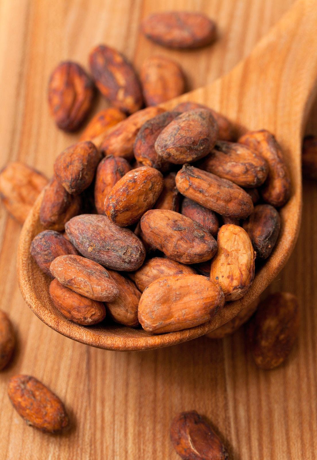 Kakaobohnen roh - unbehandelt ganz Kakao Bohne rein Rohkost