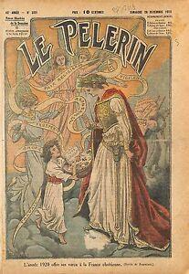 Paix Religion Catholique Voeux France des Chrétiens Anges 1919 ILLUSTRATION