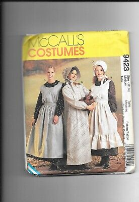 Mccalls  Misses Pioneer -Dress-Apron Bonnet-Pattern 9423 - Mccall Pattern Kostüm