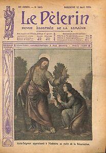 Notre Seigneur Jésus Christ Marie Madeleine Résurrection WWI 1914 ILLUSTRATION