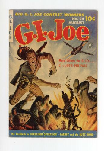 G.I. JOE #24 - DAN DECARLO ART  GGA - VERY RARE - CLASSIC WAR COVER - 1953