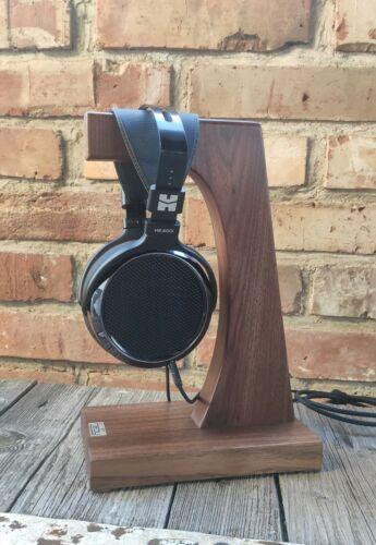 Headphone Stand Holder HeSy handmade from solid walnut wood