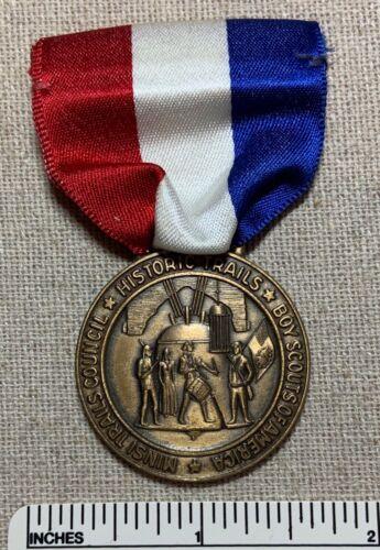 Vintage 1960s-70s MINSI TRAILS COUNCIL Boy Scout Historic Trail Award MEDAL Camp