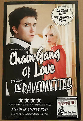 RAVEONETTES Rare 2004 PROMO ONLY for THE STOKES TOUR POSTER for Chain CD MINT