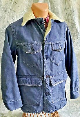 40R VTG 70'S Sears roebuck men's denim sherpa lined blue barn jacket work
