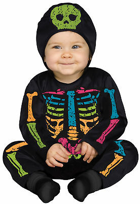 Baby Skeleton Bones Color Child Costume Jumpsuit Halloween Fancy Dress Funworld