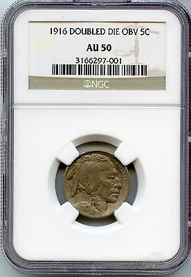 Click now to see the BUY IT NOW Price! 1916 DDO BUFFALO NICKEL   DOUBLED DIE OBVERSE NGC AU 50 CERTIFIED   JR741