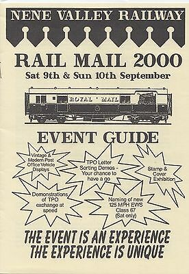 (11565) Nene Valley Railway Rail Mail 2000 Event Guide Brochure on Lookza