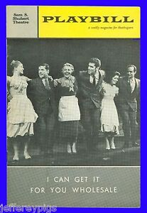 Playbill + I Can Get It for You Wholesale + 19 year old Barbra Streisand