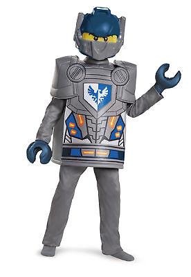 Lego Knight Costume (Deluxe Clay Nexo Knights Lego Boys Child Costume NEW)