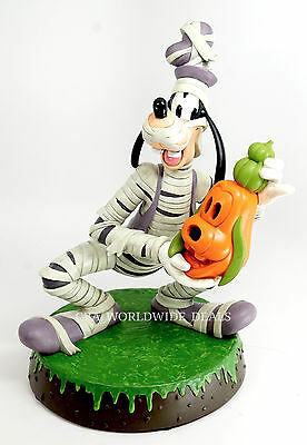 "NEW Disney Parks Halloween Mummy Goofy Light Up 14"" Resin Statue Figure"