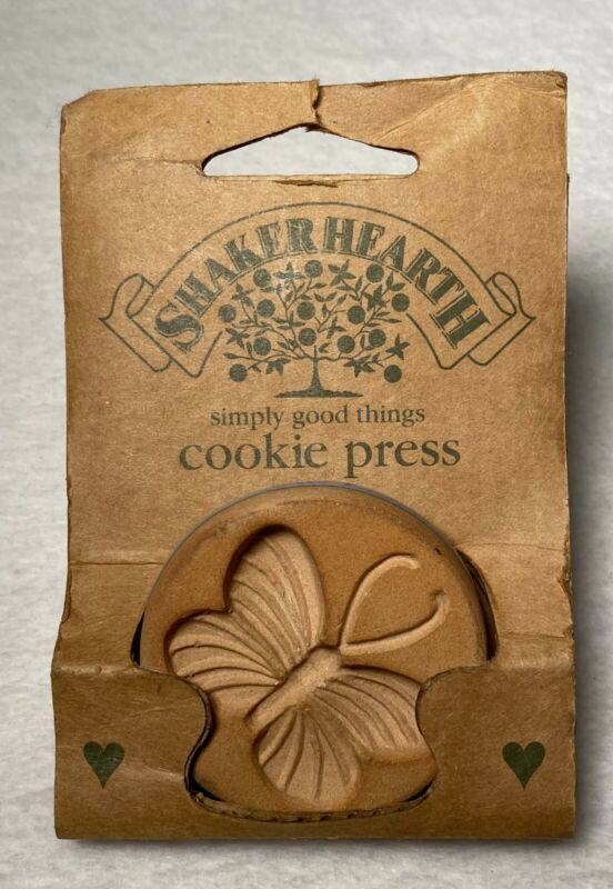 Shaker Hearth Ceramic Cookie Press Butterfly Vintage 1996 Rowoco Wilton New!