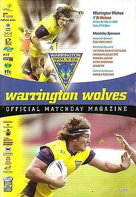 Warrington v St Helens - Super League - 2005 (March)