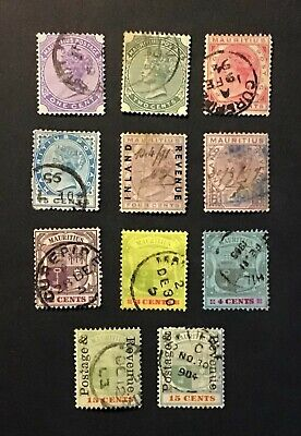 MAURITIUS unchecked group of early used issues (11)