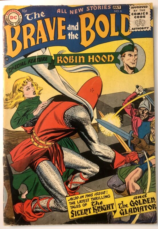Brave and the Bold #6  (VG) 1956