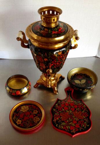 Russian Samovar & Khokhloma Lacquerware