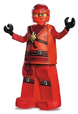 New Kai Red Ninjago Lego Prestige Child Costume by Disguise 99084 Costumania (Ninjago Costumes Kai)