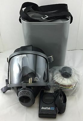 Scott Domestic Preparedness Gas Mask With Nbc Filter Voice Amp Carry Case New