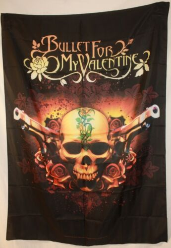 """Rare Bullet for my Valentine Dual Pistols Cloth Fabric Poster Flag 30""""x40"""" New"""