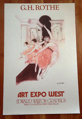 G.H. ROTHE ballet POSTER Art Expo West Edward Weston Graphics