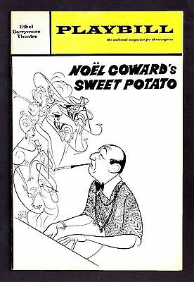 """Noel Coward """"SWEET POTATO"""" Dorothy Loudon / Al Hirschfeld 1968 Premiere Playbill"""