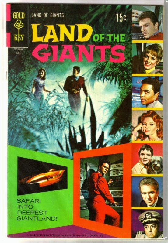 LAND of the GIANTS #4 Giantland Safari! Gold Key Comic Book ~ VF
