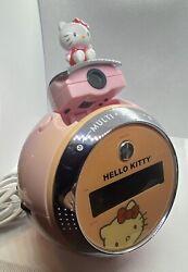 Vintage 2010 Sanrio Hello Kitty Projection Alarm Clock Radio