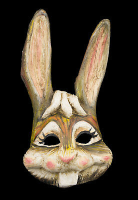 Mask Venetian Rabbit Hare paper Mache Handmade Copy Single 22282 X24