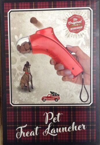Pet Treat Launcher New In The Box, Red  - $14.95