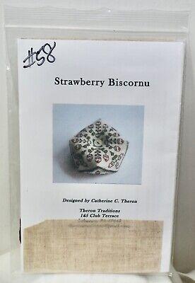 """Strawberry Biscornu"" counted thread kit - CATHERINE THERON"