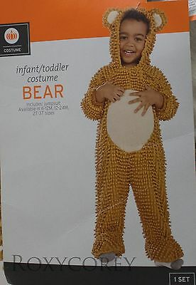 Halloween Infant Toddler Brown Bear Jumpsuit Costume Size 12-24 months NWT