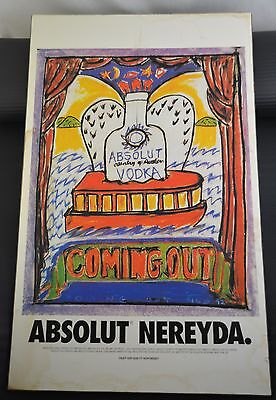 Absolut Vodka Coming Out Mounted Art Print Advertisement - Nereyda Garcia Ferraz