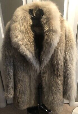 Womens Vintage Oscar De La Renta Fur Coat