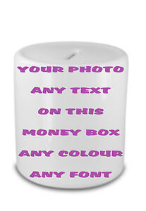 PERSONALISED-MONEY-BOX-YOUR-PHOTO-TEXT-GIFT-CHRISTMAS-BIRTHDAY-CHRISTENING-BANK