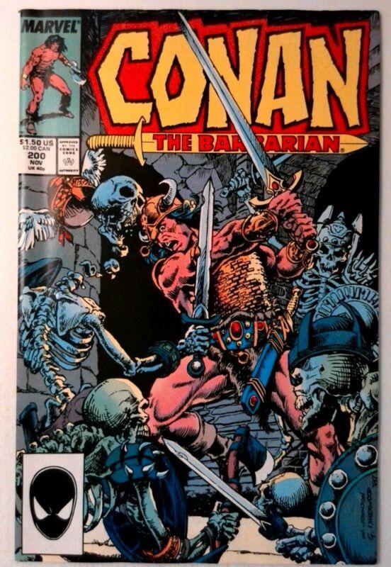 Conan the Barbarian #200 Marvel 1987 NM- Copper Age Comic Book 1st Print