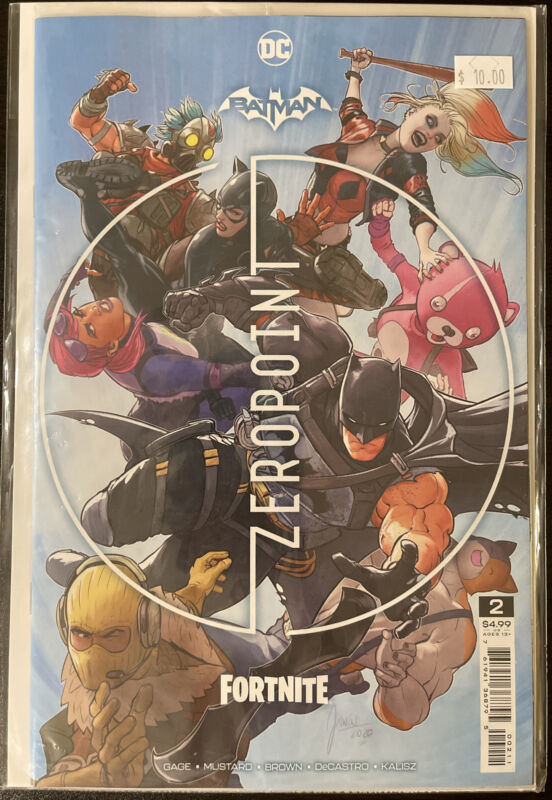 Batman Fortnite # 2 Unlock Wing Glider Code Zero Point (2021) 1st Print Cover A