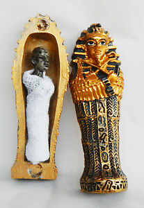 Egyptian Figure of a Mummy in a Sarcophagus - Tutankhamun - BNIB