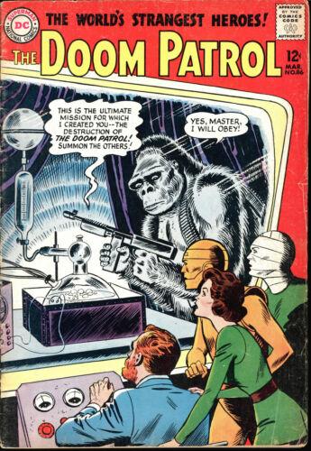 DOOM PATROL #86, #124 SILVER AGE  COMICS OF THE WORLD