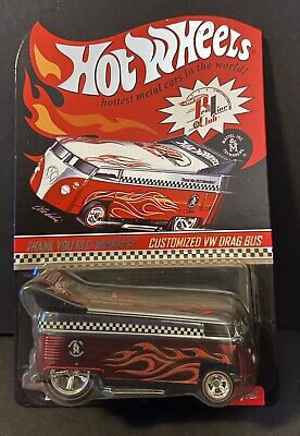 HOT WHEELS RLC Red Line 2005 THANK YOU CUSTOMIZED VW DRAG BUS NIP