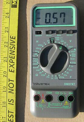 Wavetek Dm27xt Digital Multimeter Handheld 3 12 Digit Dmm W Caphzind