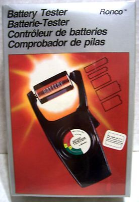 RONCO Battery Checker Volt Tester Cell AA AAA C D 9V Button New VINTAGE 1970's