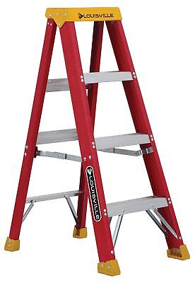 Louisville Ladder L-3016-04 300-pound Duty Rating Fiberglass Stepladder 4-feet