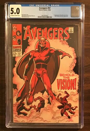 Avengers #57 CGC 5.0 1st appearance Vision