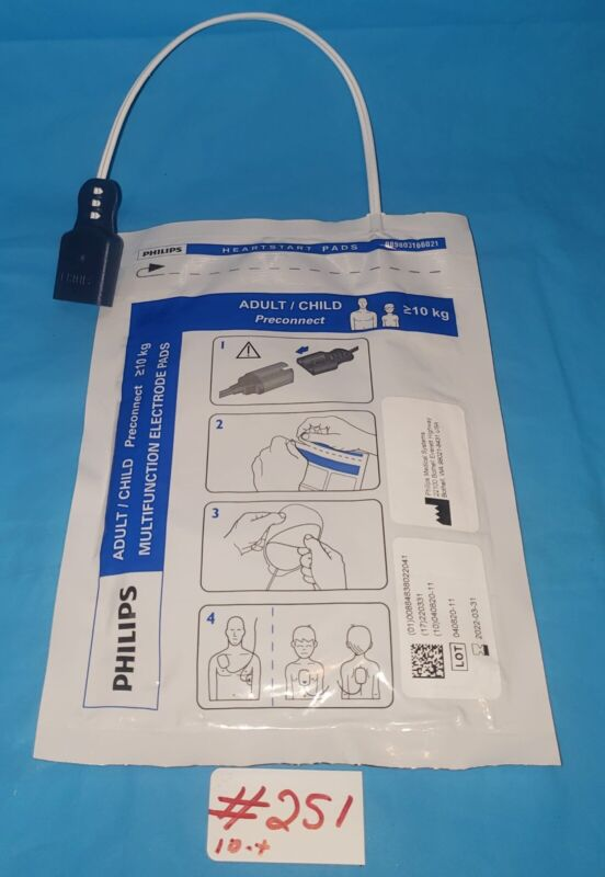 Philips 989803166021 ❤️Start Adult Preconnect Multifunction Electrode Pads 2022+