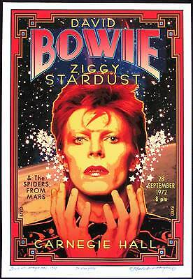Honoring David Bowie at Carnegie Hall 1972 New Poster S/N to 100 by David Byrd