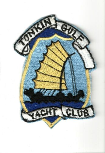 THEATER MADE TONKIN GULF YACHT CLUB USN US NAVY PATCH 1960