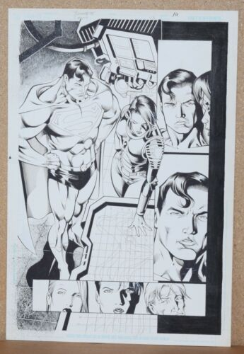 CHECKMATE #23 page 14 ORIGINAL ART (SUPERMAN) by Artist JOE BENNETT