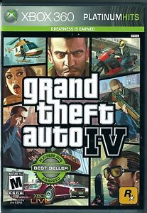 Grand Theft Auto IV (Platinum Hits)  (Xbox 360, 2008) - Factory Sealed