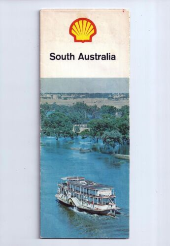 Vintage SHELL Road Guide Map of South Australia 1960s