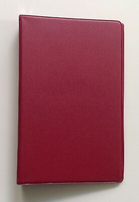 Mead 46001 Small 6-ring Red Vinyl Loose-leaf Memo Notebook With 6-34 X 3-34...